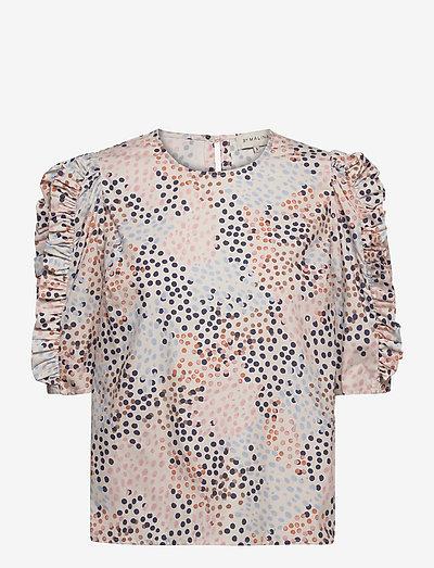 Dunia blouse - kortärmade blusar - ceramic dot