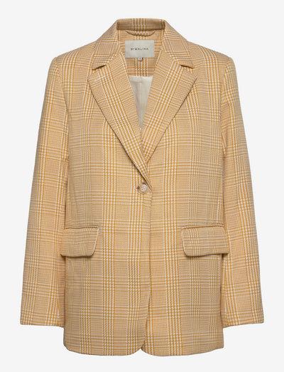 Vera blazer - oversize kavajer - saffron check