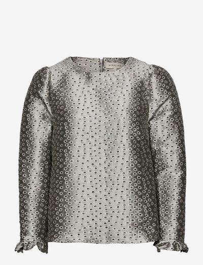 Fawn blouse - langermede bluser - grey metallic
