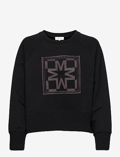 Iconic cropped sweatshirt - sweatshirts & hoodies - black