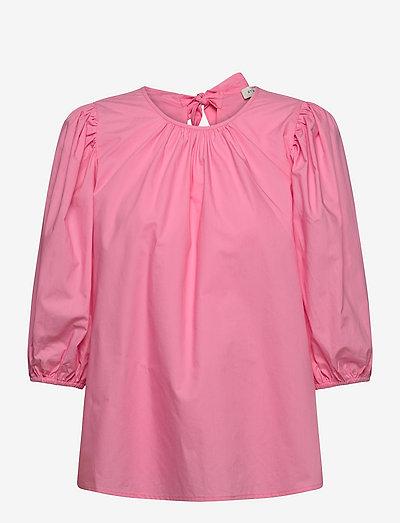 Nina blouse - kortärmade blusar - lush pink