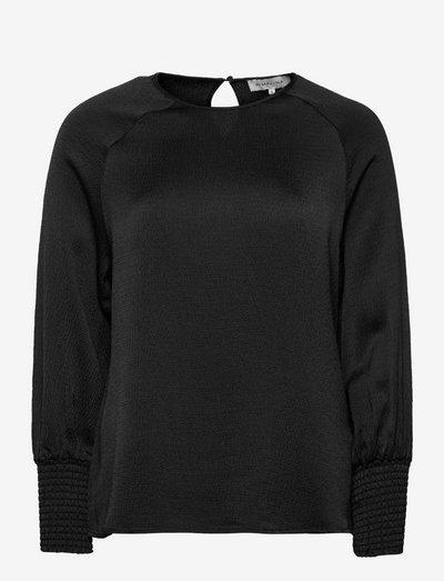 Alba blouse - langärmlige blusen - black