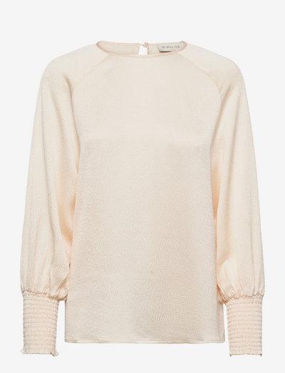 Alba blouse - langärmlige blusen - warm white