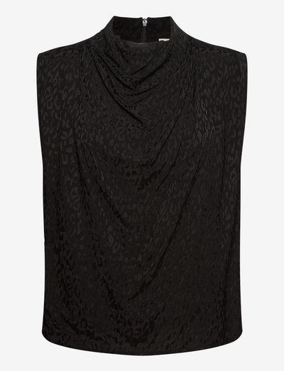 Nuria top - Ärmlösa blusar - black