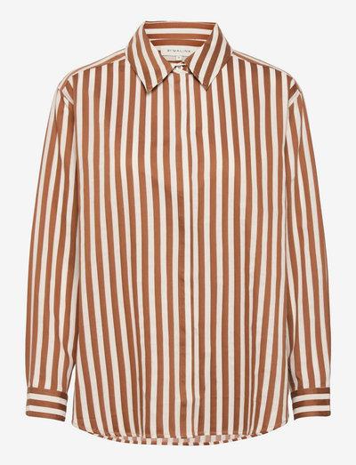Yaelle shirt - jeansskjortor - sienna stripe