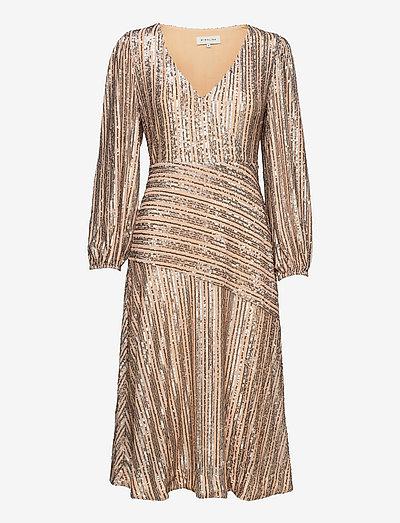Gali dress - cocktailklänningar - blush metallic