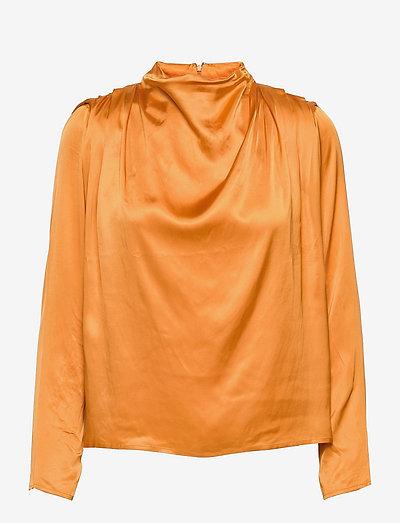 Flor blouse - långärmade blusar - saffron
