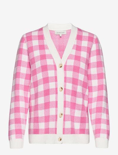 Lorena cardigan - koftor - lush pink check