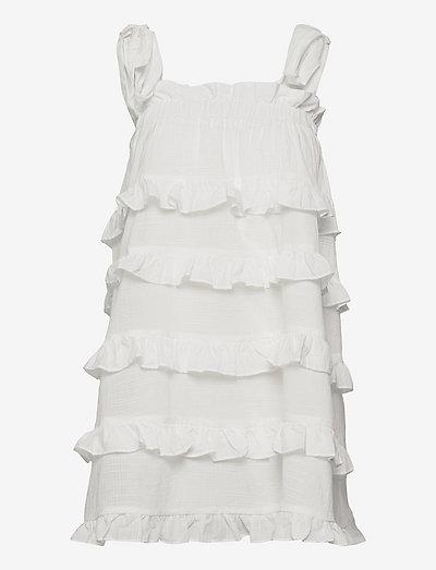Carla dress - sommarklänningar - white