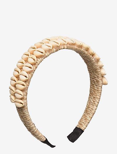 Tia shell headband - hårband - cream