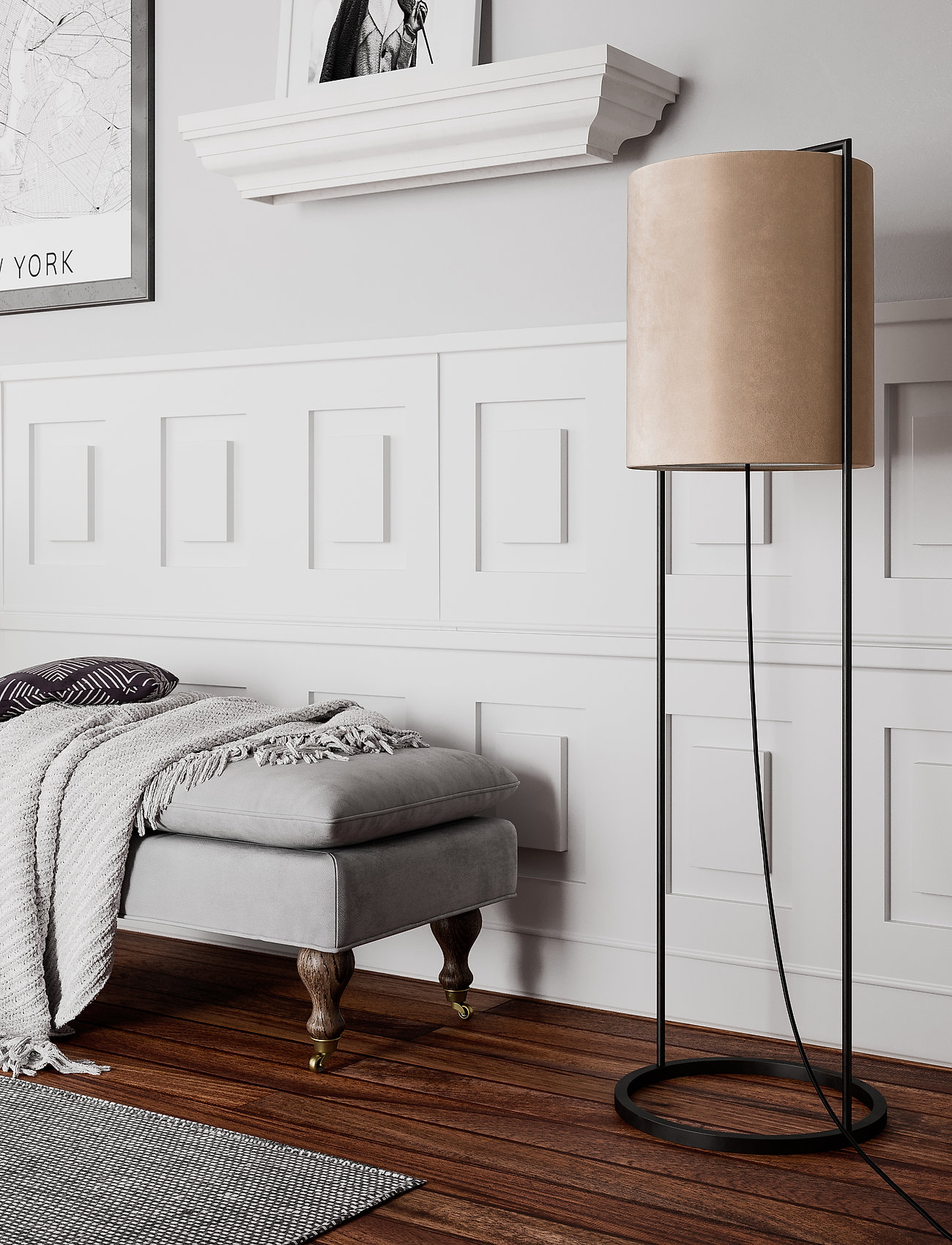 By Rydéns - Vieste floor lamp - gulvlamper - beige - 1