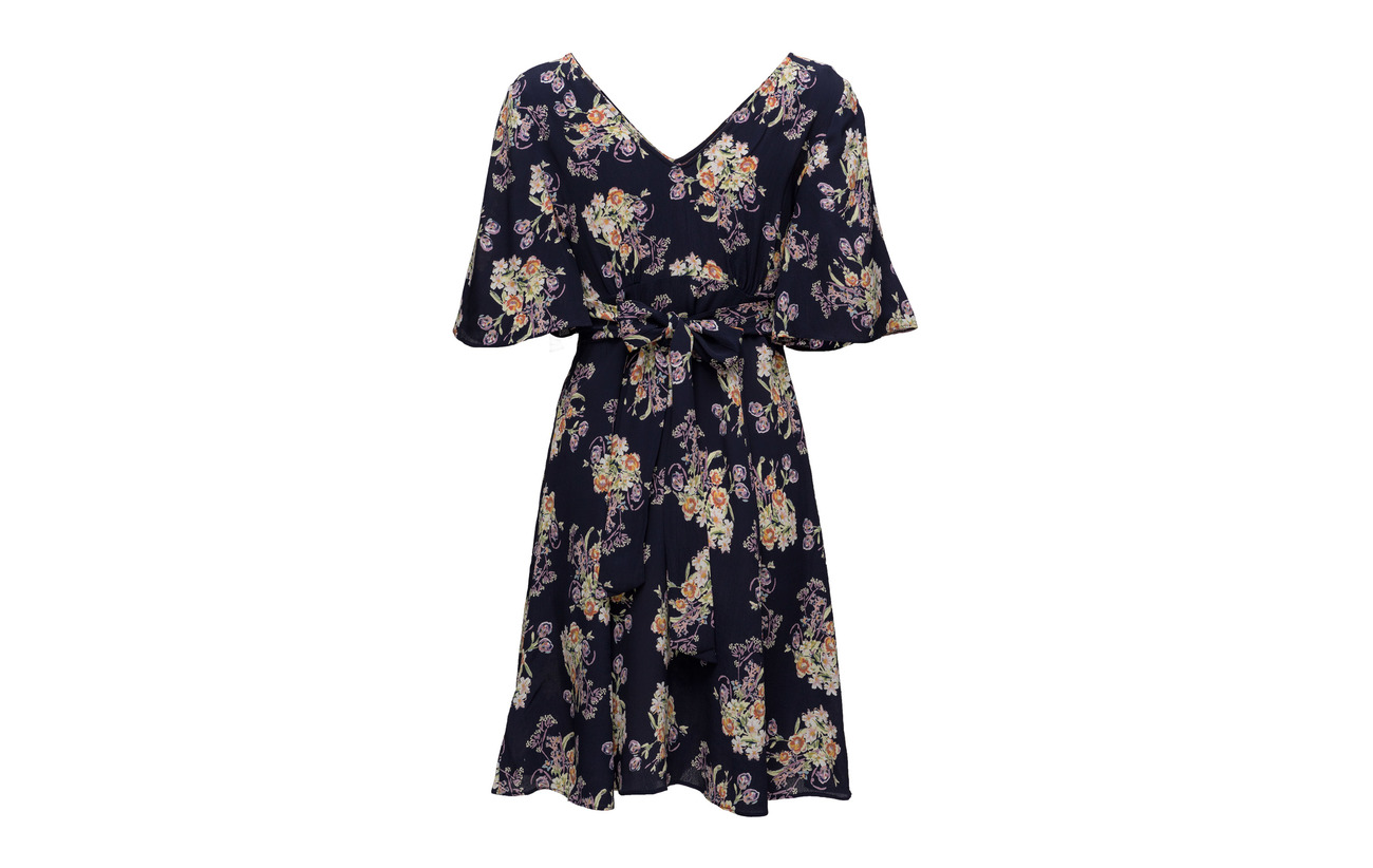 By Mo Midummer Viscose Flowers Dress 378 Ti Tie 100 qZfHOqavw