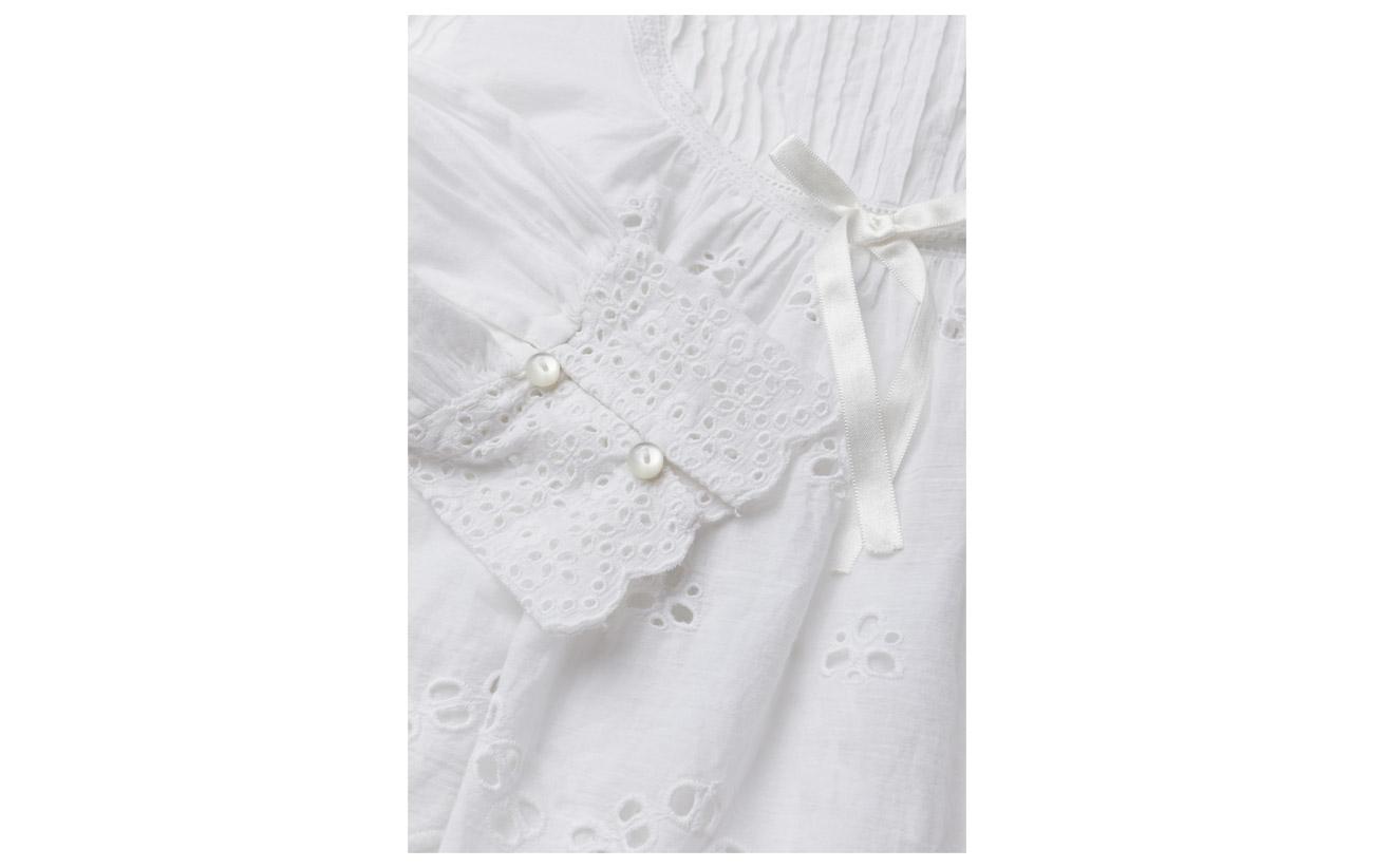 100 Anglaise Ti Broderie White 001 Bow Coton Blouse By Mo ACO8BxwBq