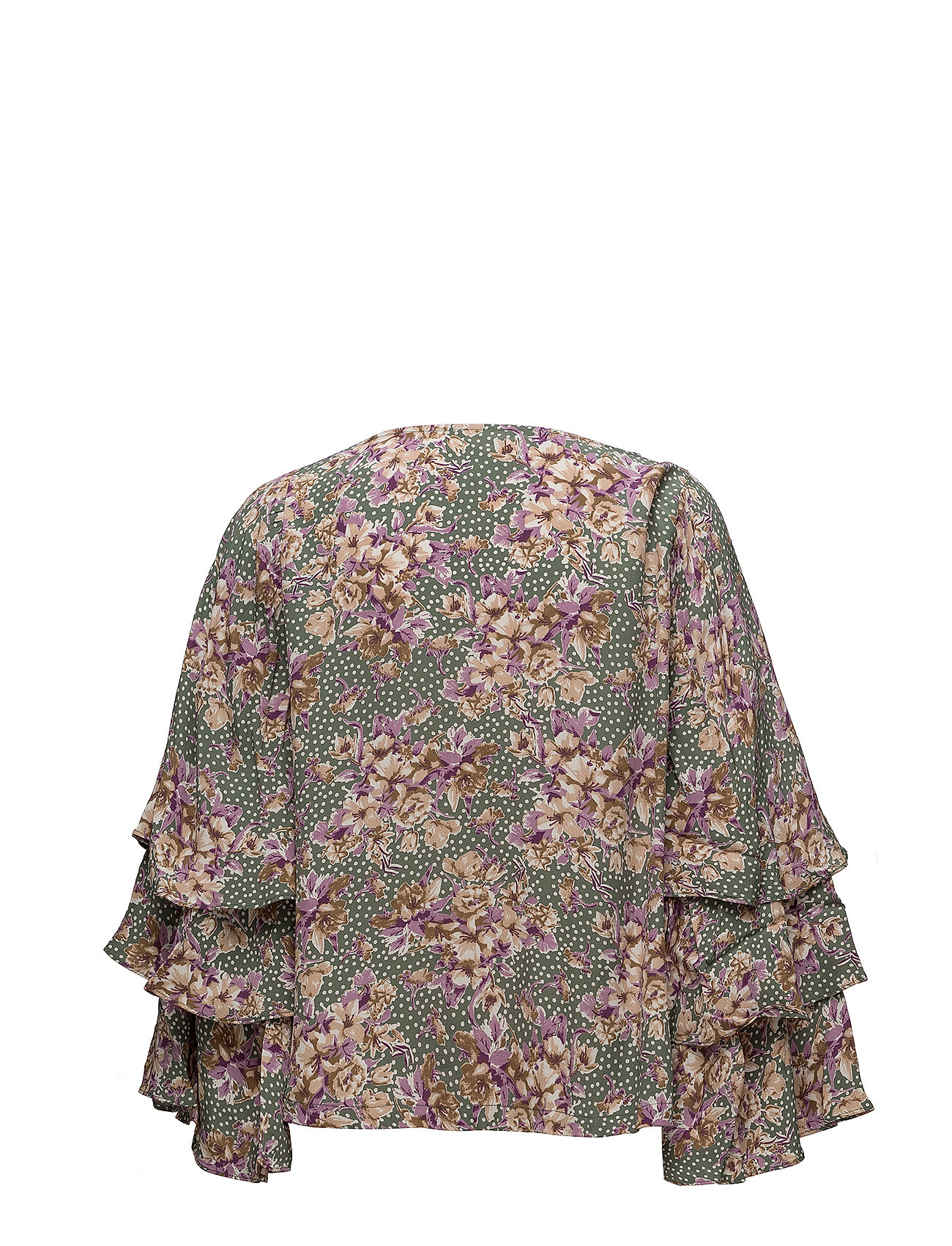 Ti BouquetBy Printed Mo Blouse750 Flared Green redCBQxoW