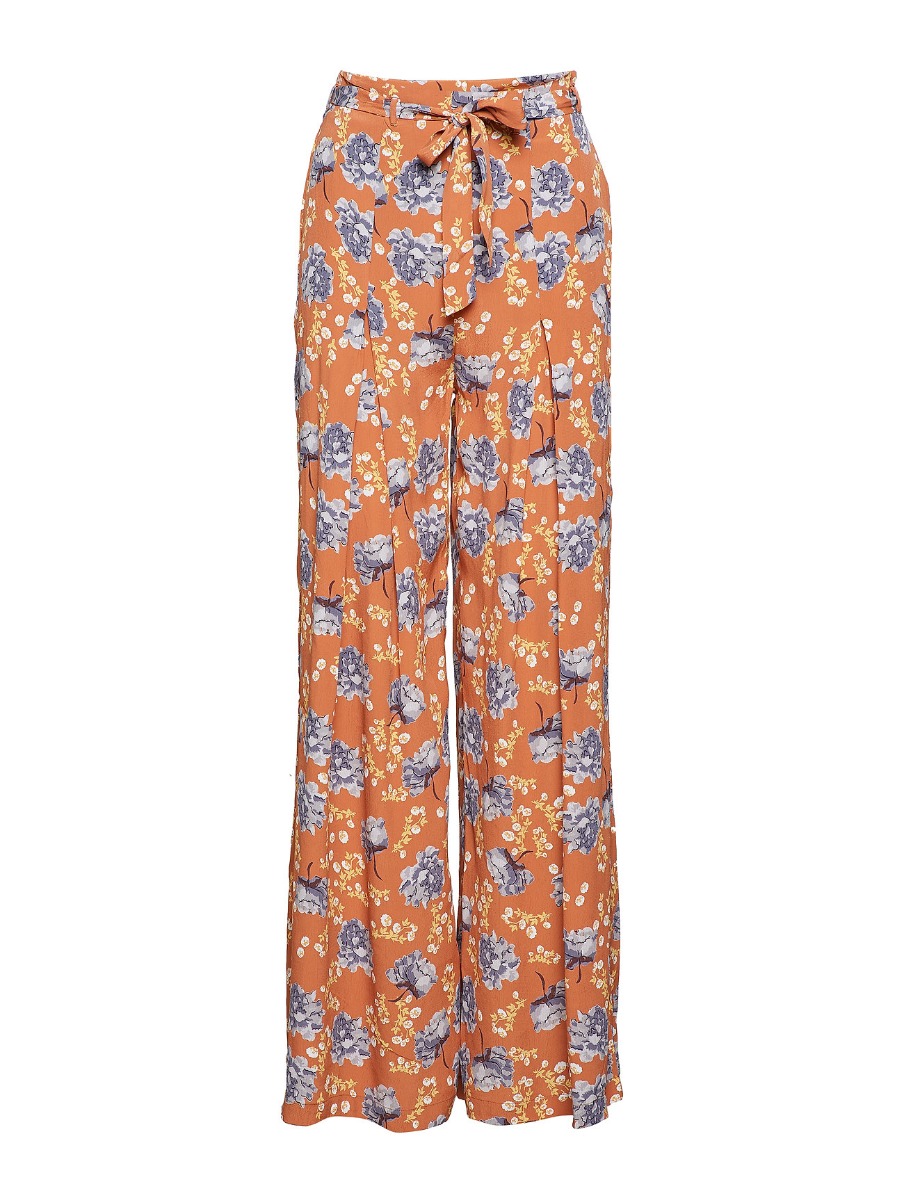 Image of Wide Trousers Vide Bukser Orange By Ti Mo (3088907629)