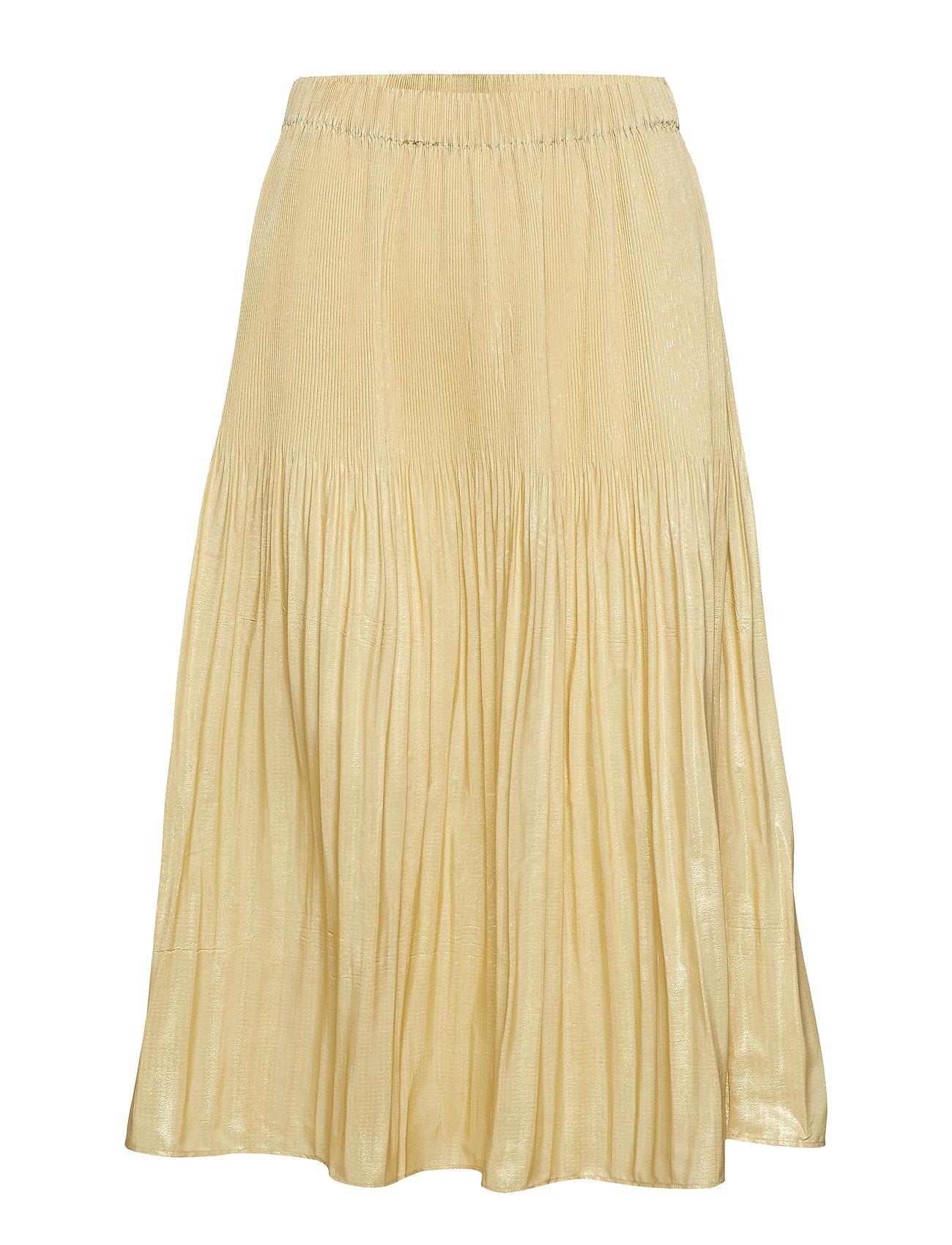 by Ti Mo Plisse Midi Skirt - 342 GOLDEN