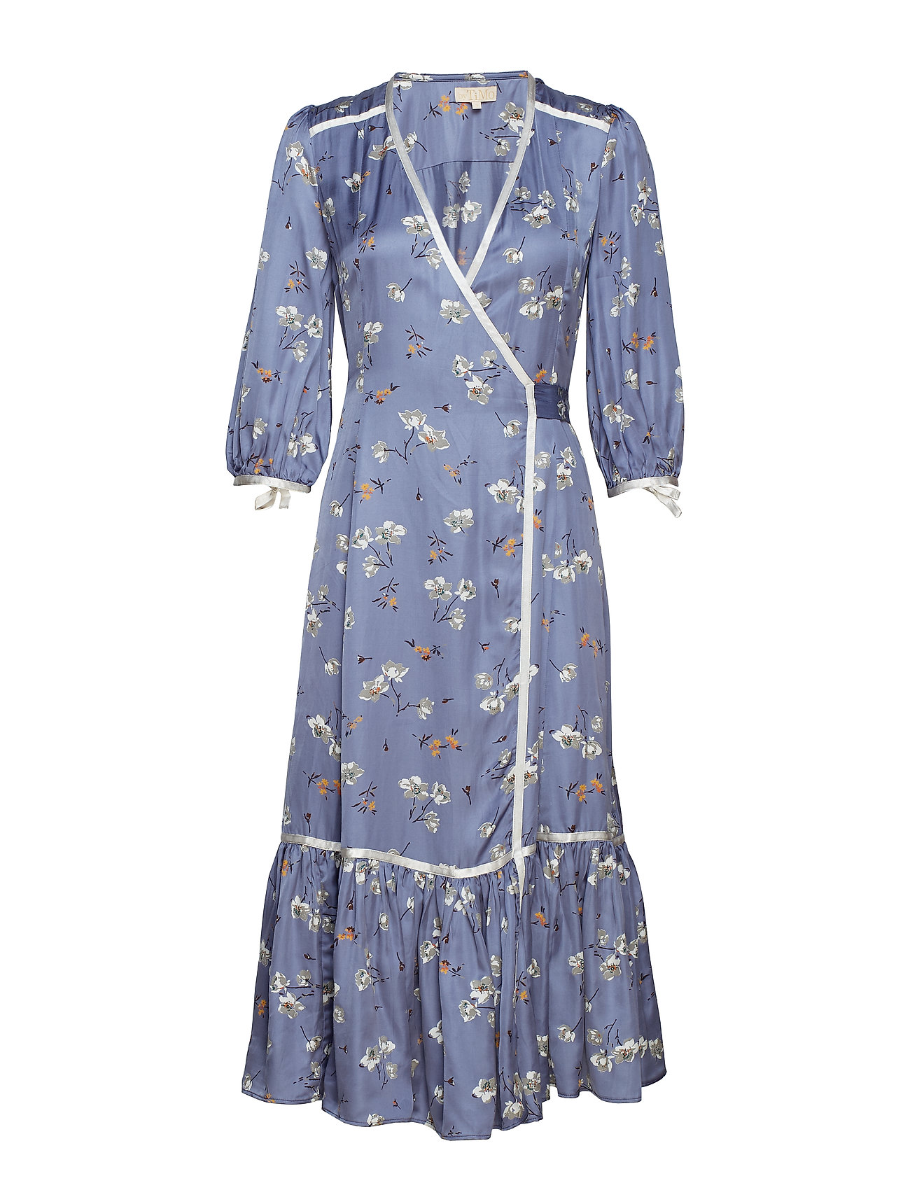by Ti Mo Contrast Wrap Dress - 798 NOVELTY