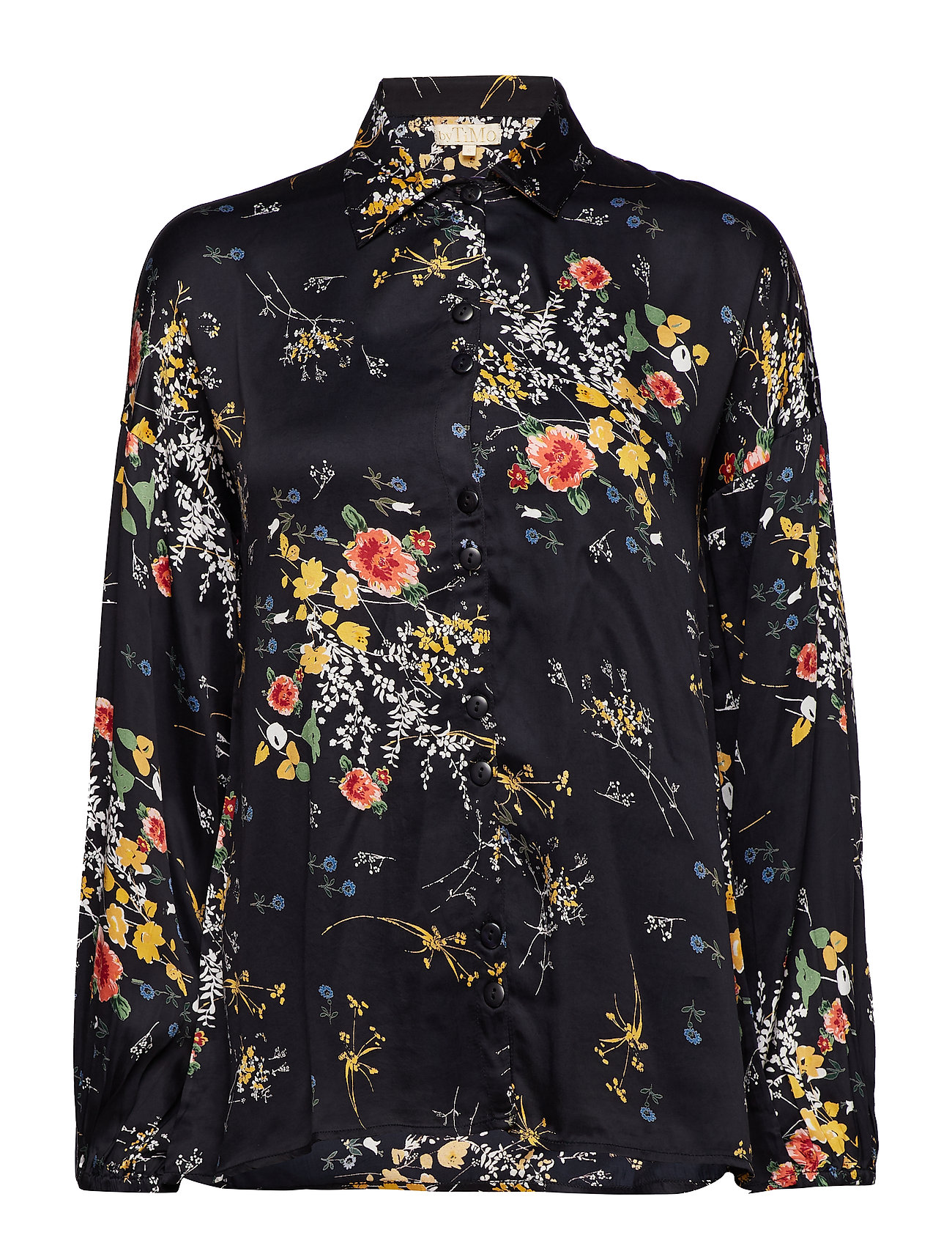 by Ti Mo Satin Shirt - 814 GARDENS