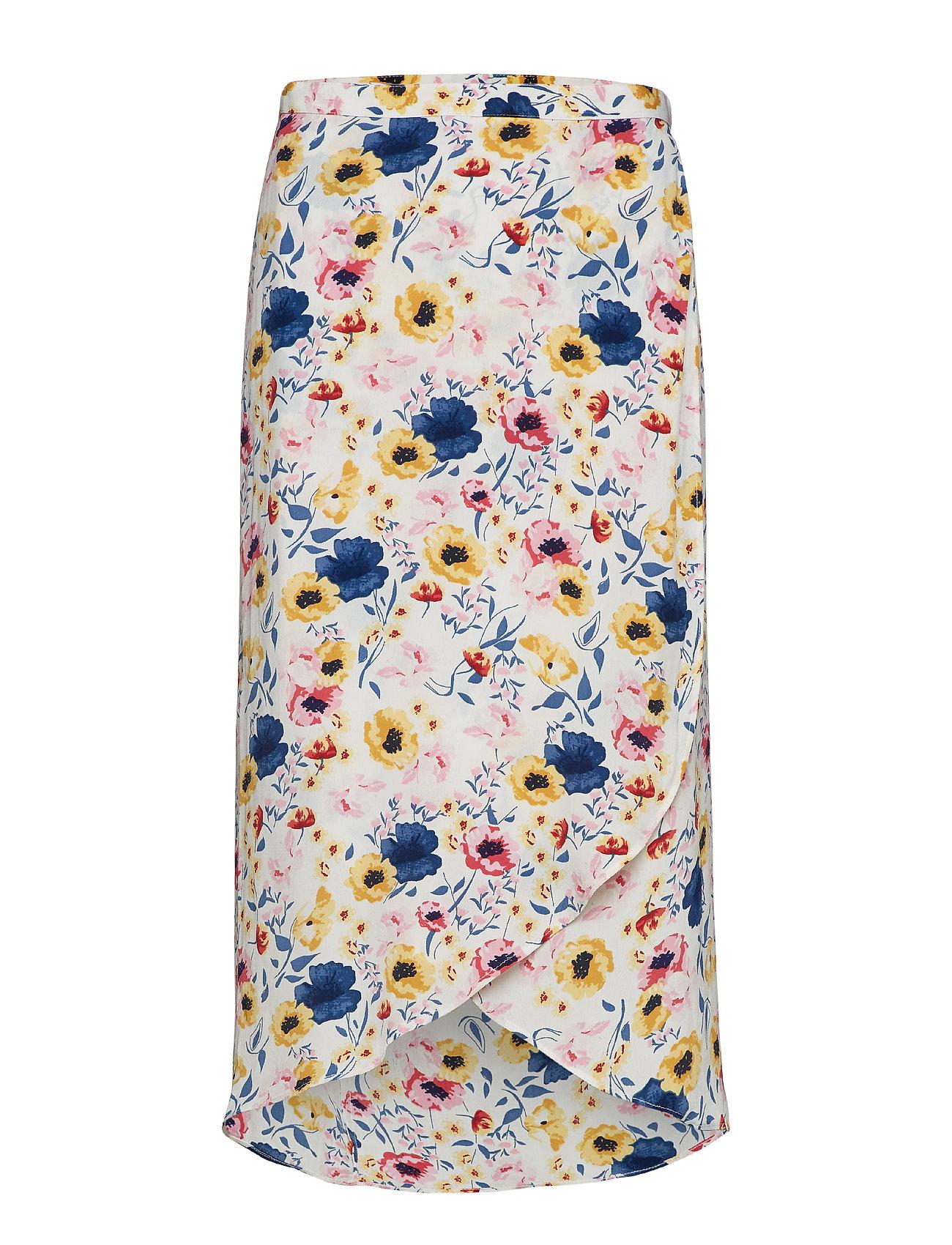 by Ti Mo Wrap Skirt - FLORA WHITE