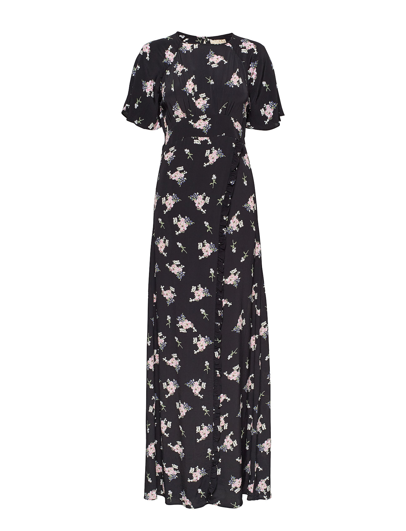 by Ti Mo Ruffle Wrap Gown - SMALL BOUQUET