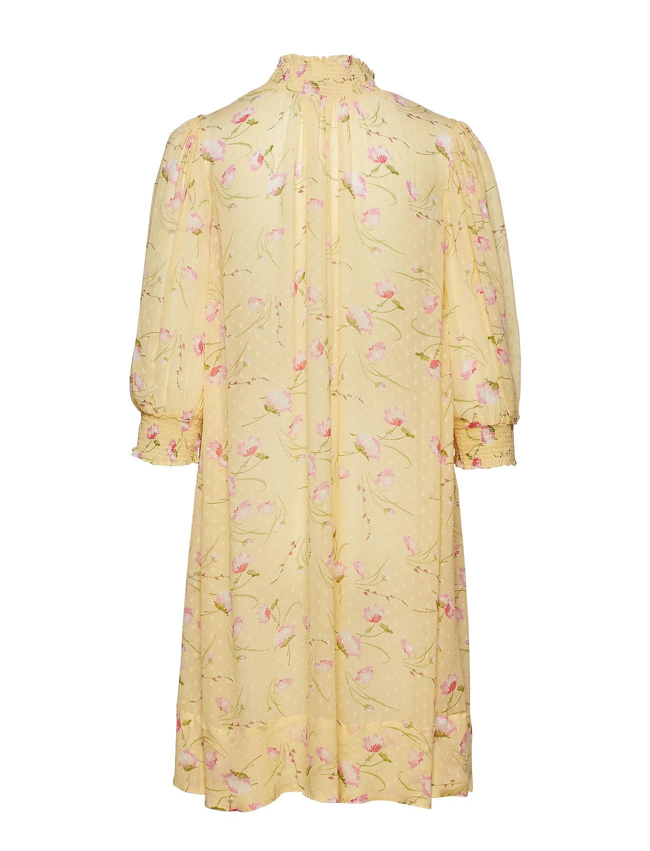 by Ti Mo - Delicate Semi A-Line Dress - midi dresses - yellow poppy