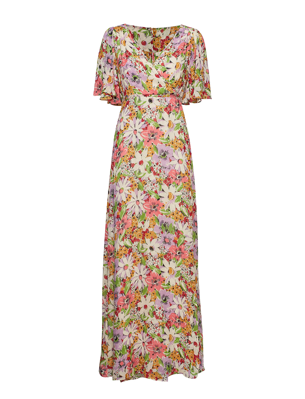 by Ti Mo Delicate Semi Wrap Dress - SHEER FLOWERS