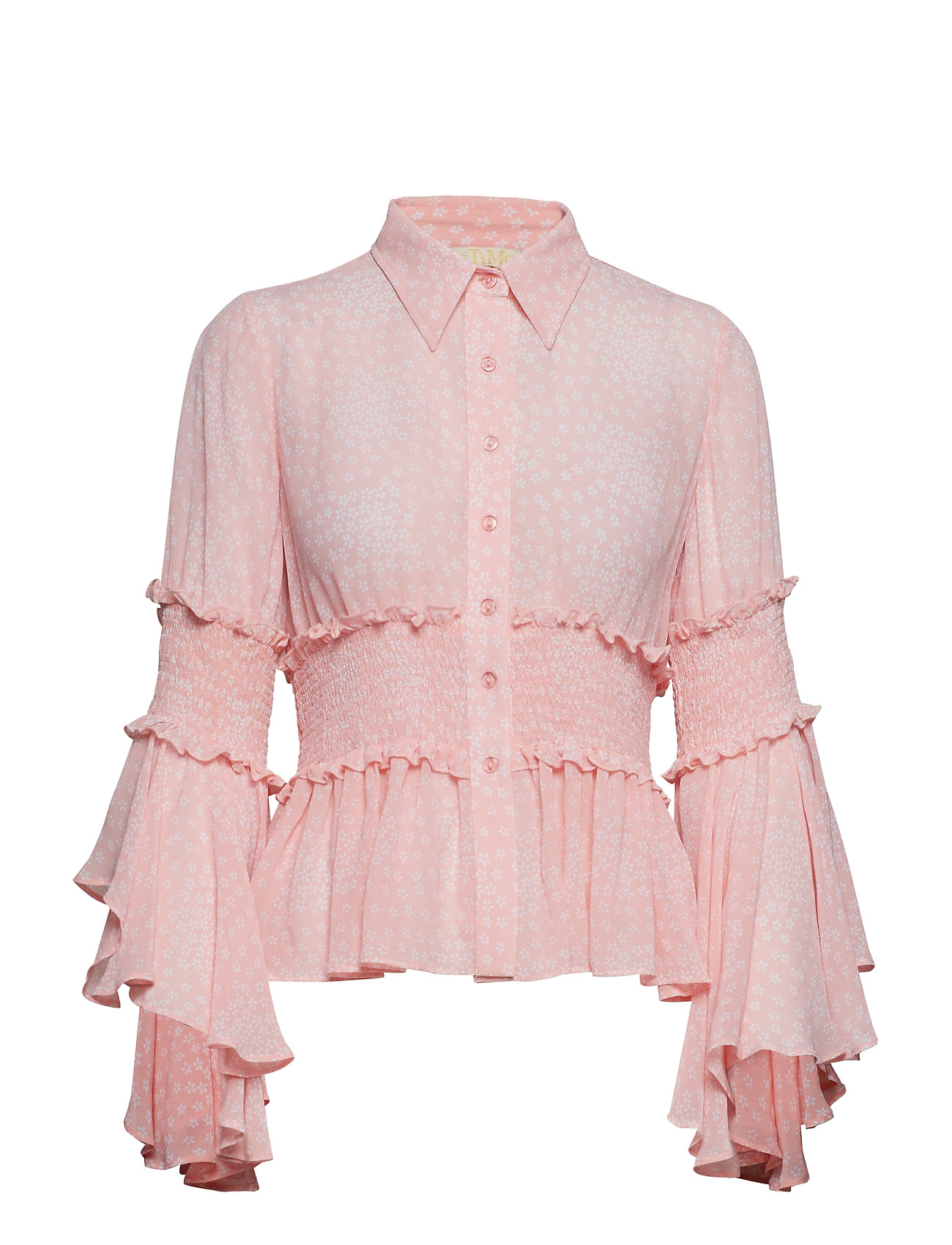 by Ti Mo Semi Couture Flared Shirt - CHERRY BLOSSOMS