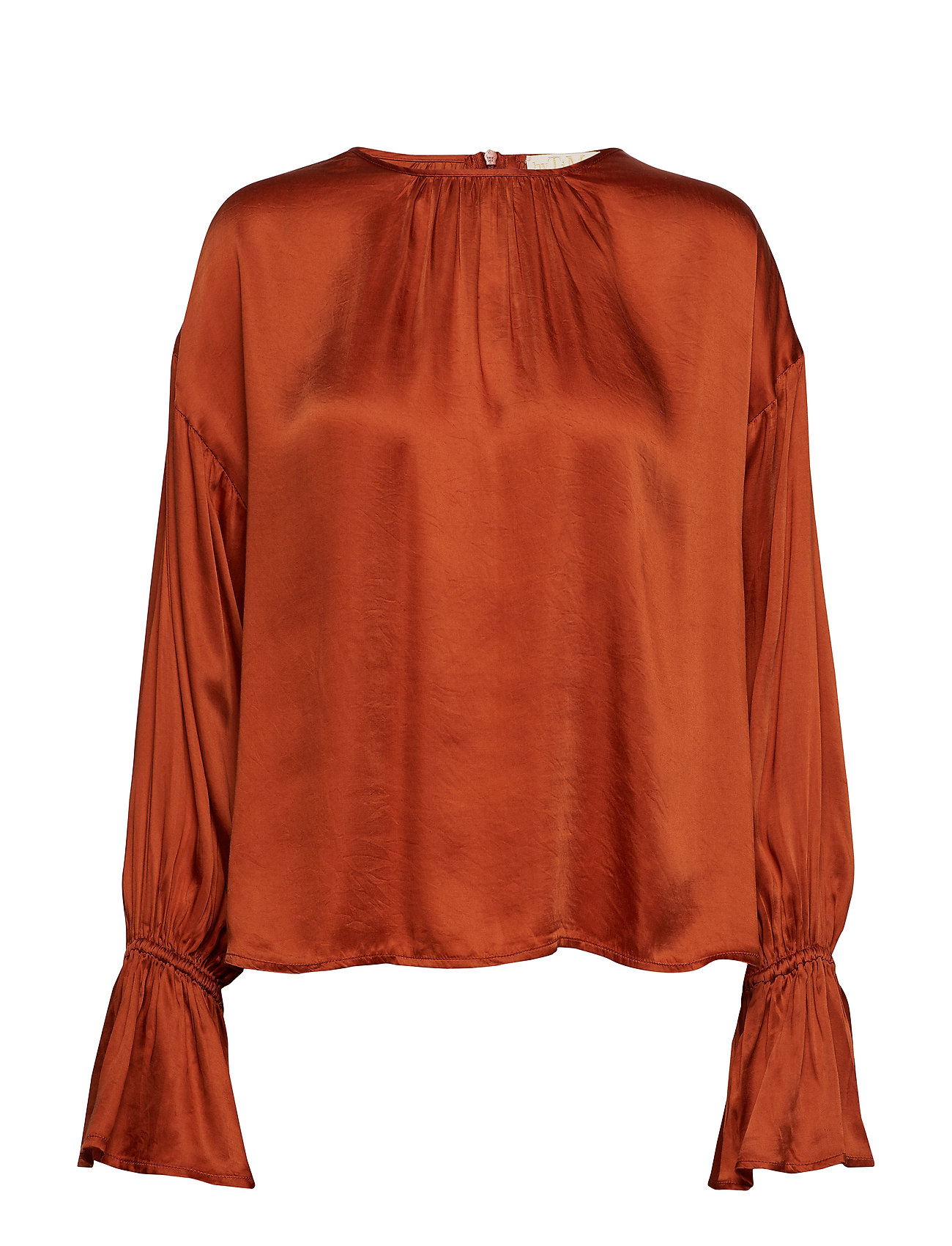 by Ti Mo Satin Blouse - RUST