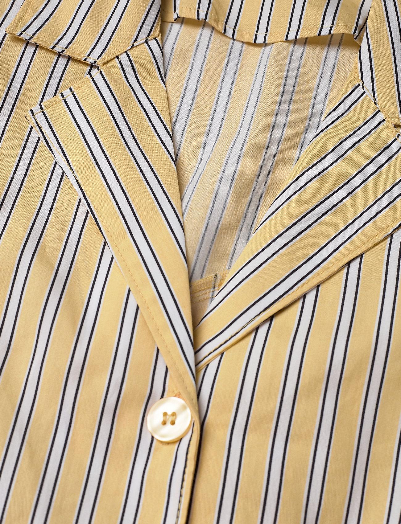 By Ti Mo Poplin Kitchen Dress - Klänningar Yellow Stripe