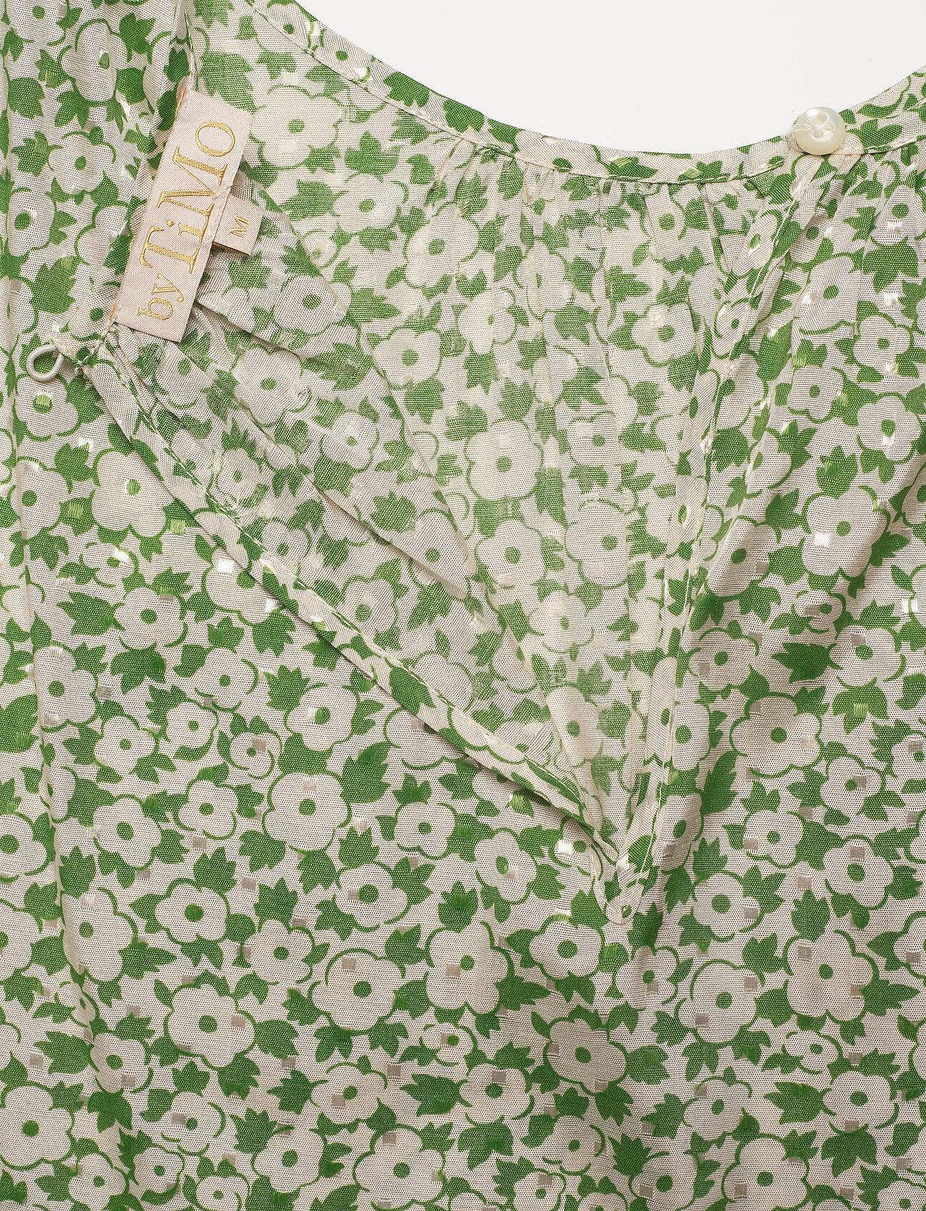 by Ti Mo - Delicate Top - langærmede bluser - green garden - 3