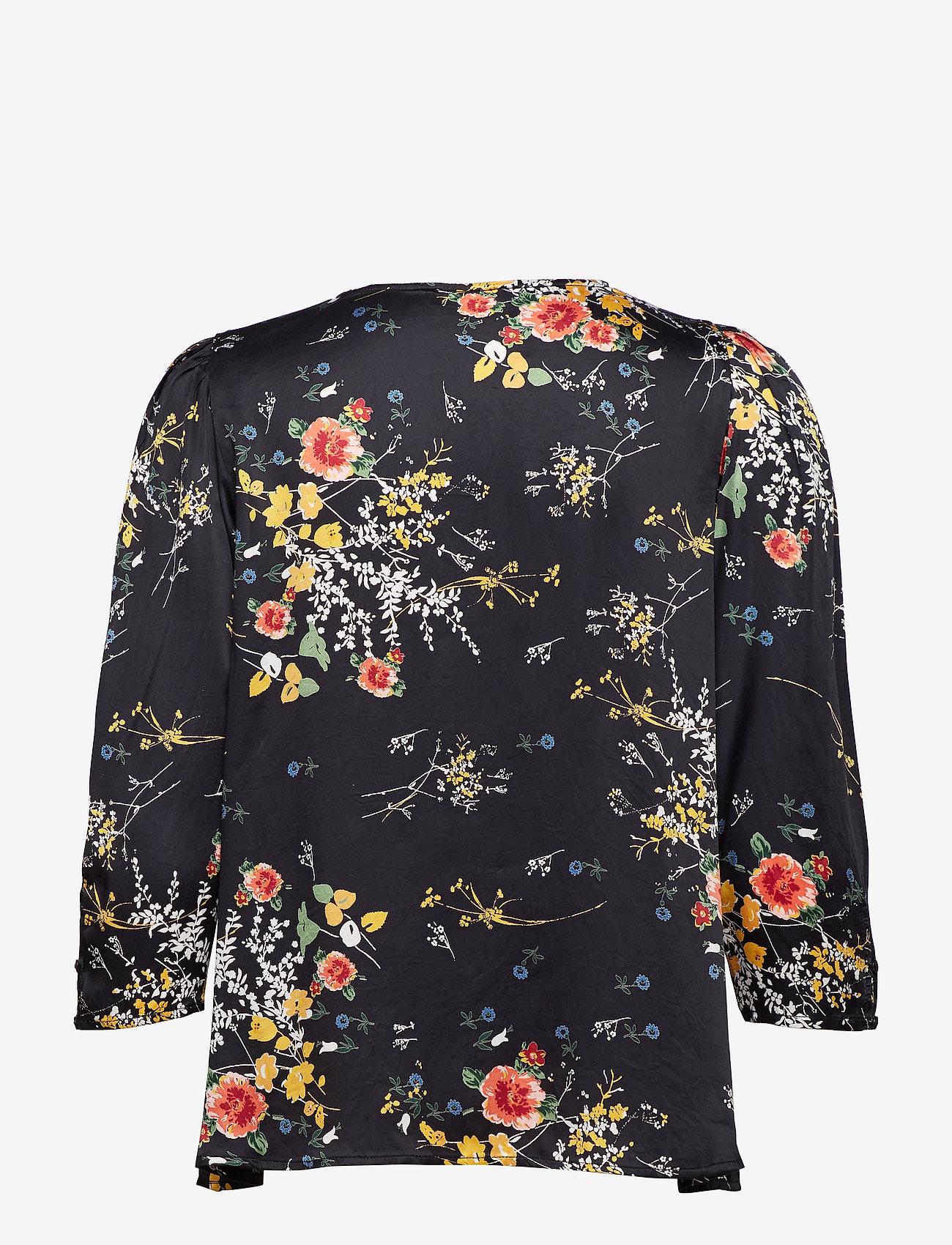By Ti Mo Satin V-neck Blouse - Blouses & Shirts