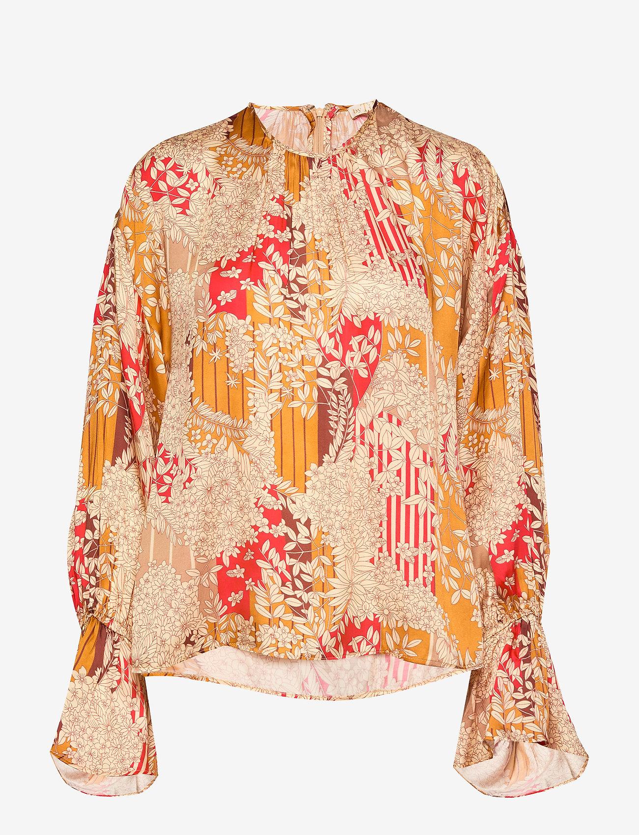 by Ti Mo - Satin Top - bluzki z długimi rękawami - tokyo dream - 0