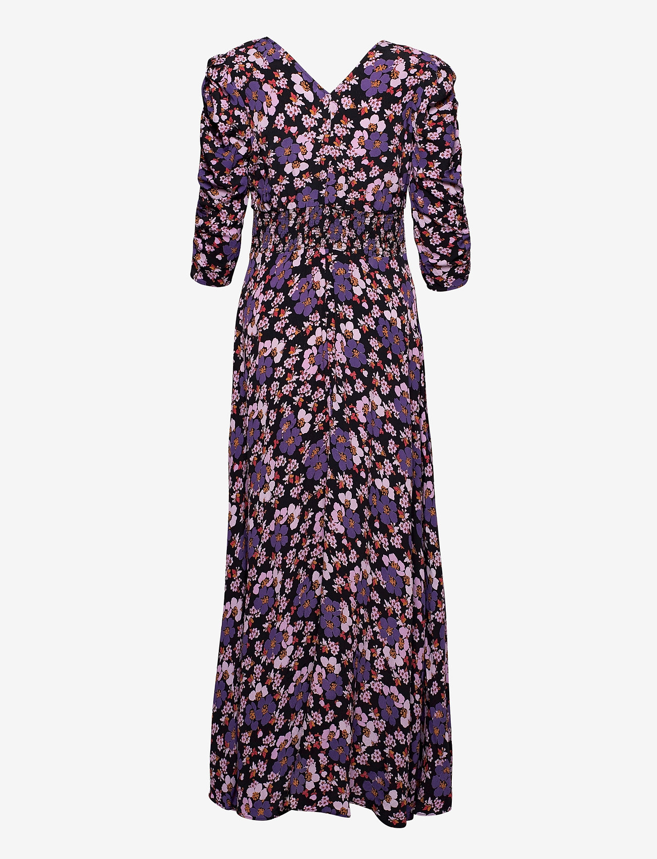 by Ti Mo - Pre Spring Rouch Dress - sommerkjoler - purple flowers - 1