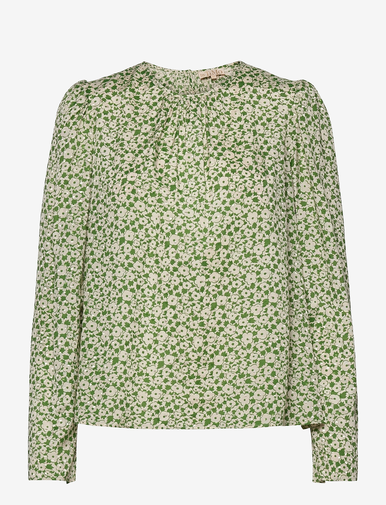 by Ti Mo - Delicate Top - langærmede bluser - green garden - 0