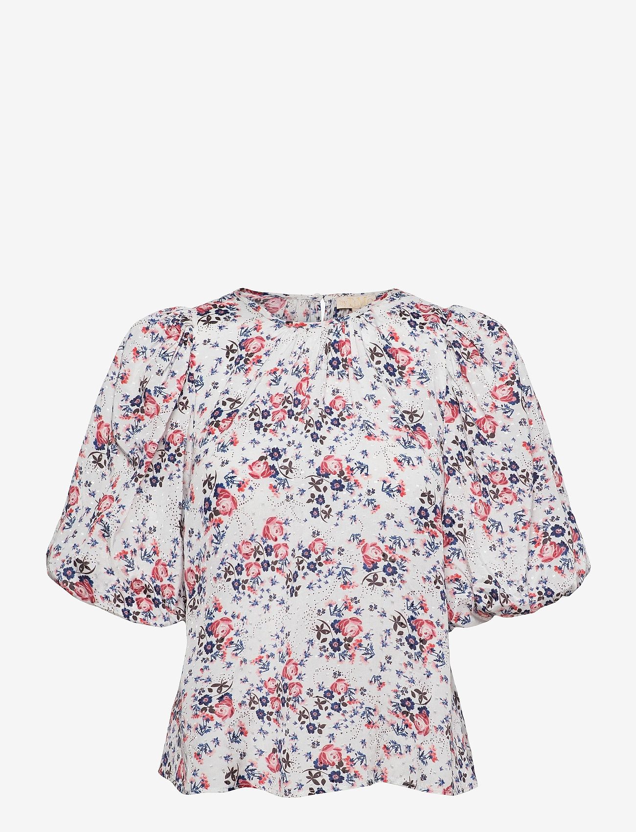 by Ti Mo - Delicate Blouse - kortermede bluser - rose bouquet - 0