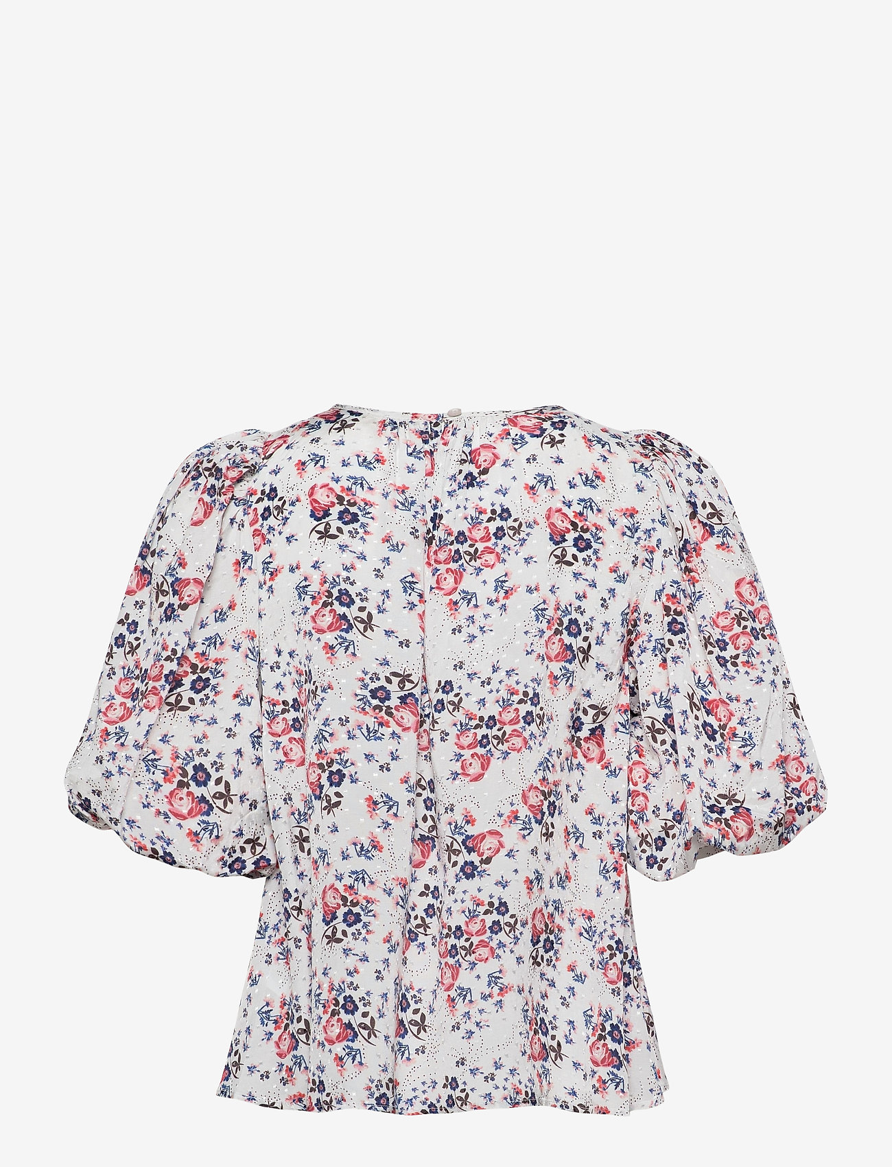 by Ti Mo - Delicate Blouse - kortermede bluser - rose bouquet - 1