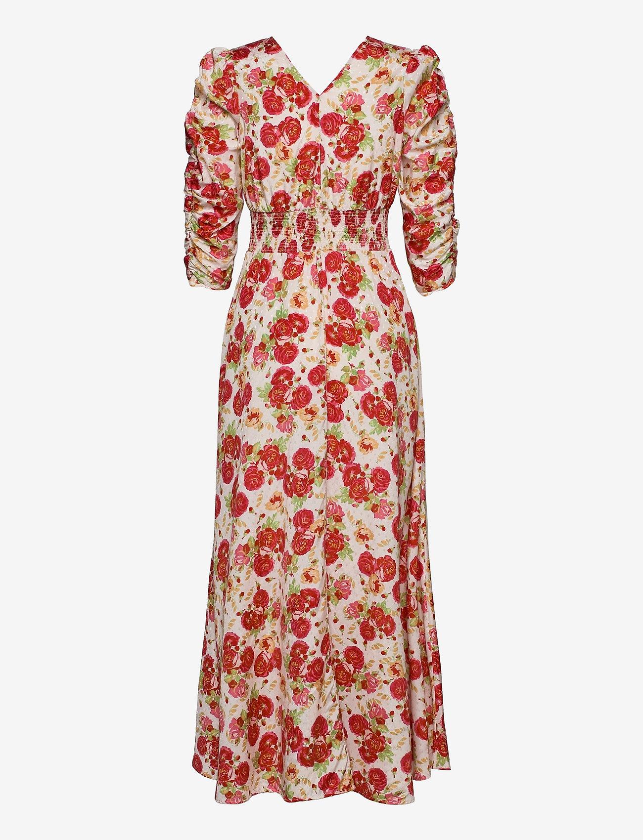 by Ti Mo - Delicate Rouching Dress - zomerjurken - rose garden - 1