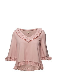 V-Neck Top - Ruffles - 135 DUSTY PINK