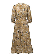 Bohemian - Bohemian Midi Dress - 394 PAISLEY YELLOW