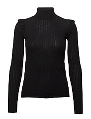 Merino Frill Turtleneck - 099 BLACK
