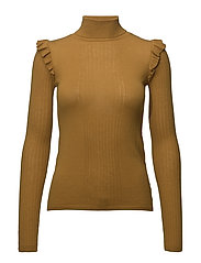 Merino Frill Turtleneck - 343 HONEY