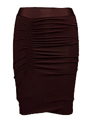 Silhouettes Fitted Skirt - 301 DARK PLUM