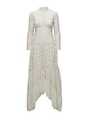 Vintage Cotton Maxi Dress - 002 VINTAGE WHITE