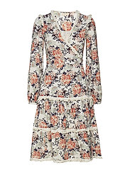 Japanese Boho Wrap Dress - 605 ROSES