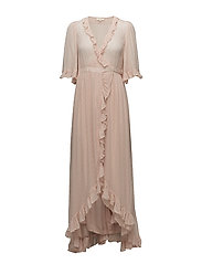 Delicate Semi Cotuure Wrap Dress - 044 POWDER