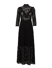 Victorian Lace Dress - 099 BLACK