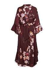Wool Maxi Robe - 734 BOUQUET