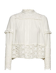 Vintage Cotton High Neck Blouse - 002 VINTAGE WHITE