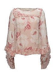 Delicate Semi Couture Flared Blouse - 740 VINTAGE ROSE