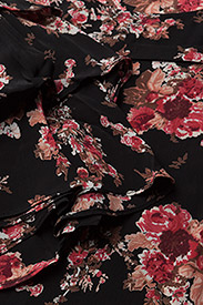 Printed Flared Blouse
